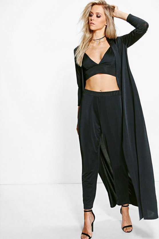 Slinky Bralet Trouser & Duster Co-ord