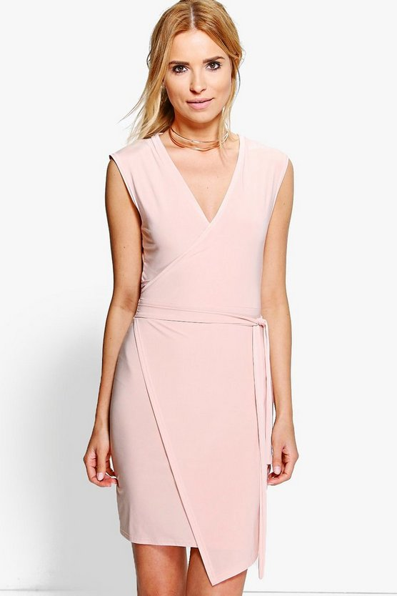Maddy Slinky Wrap Tie Bodycon Dress