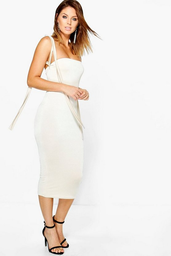 Loren Slinky Strappy Multi-Way Midi Dress