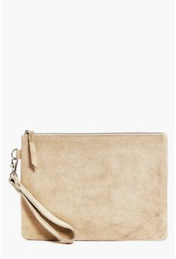 Lucy Boutique Leather Zip Top Clutch