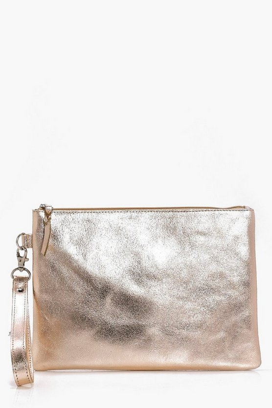 Daisy Boutique Distressed Leather Clutch