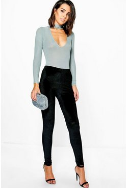 Neriah Cord Velvet Highwaist Leggings