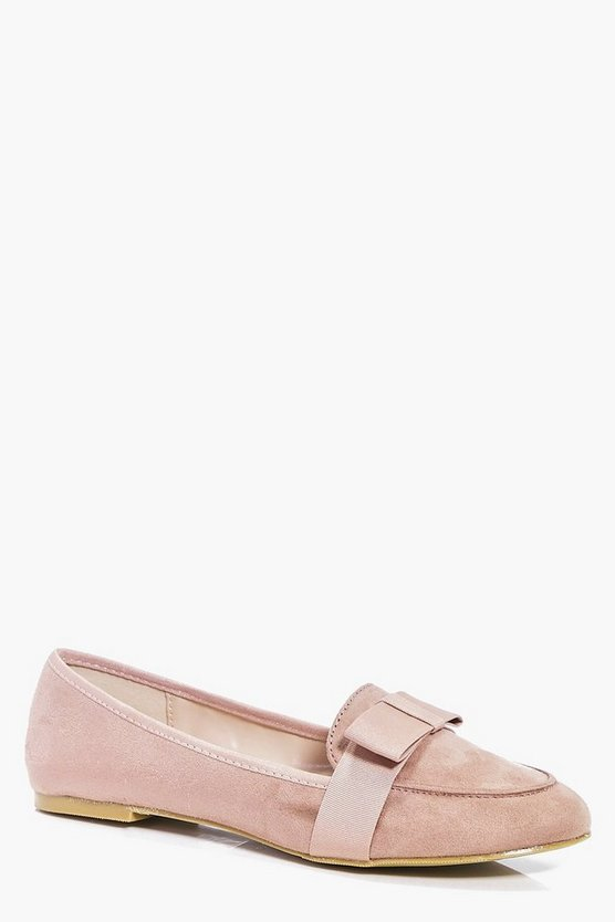 Orla Bow Trim Loafers
