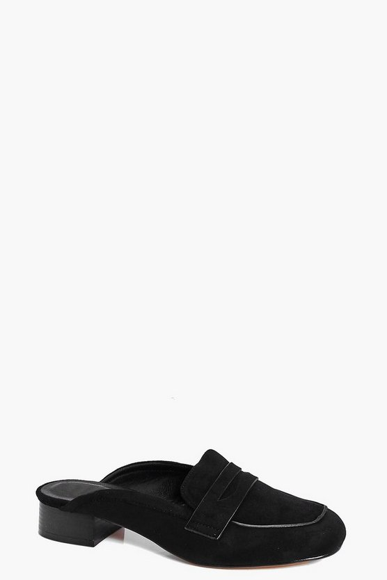 Megan Slip On Loafer Mule