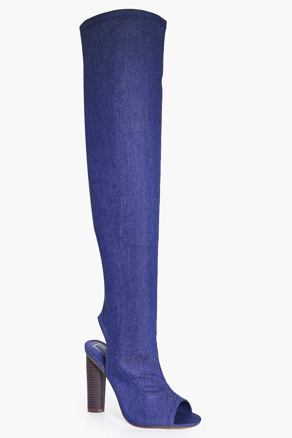 Betsy Peeptoe Over The Knee Boot