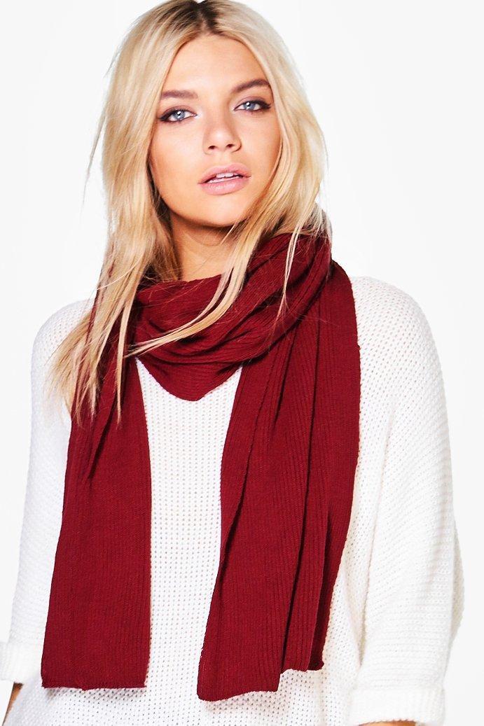 Super Soft Extra Long Knit Scarf  wine