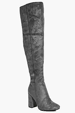 Ruby Block Heel Over The Knee Boot