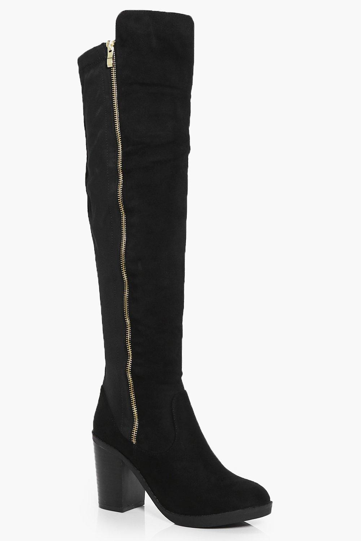 Lena Zip Side Over The Knee Boot