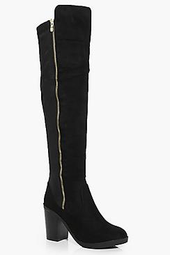 Lena Zip Side Over The Knee Boot