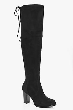 Edie Block Heel Over The Knee Boot