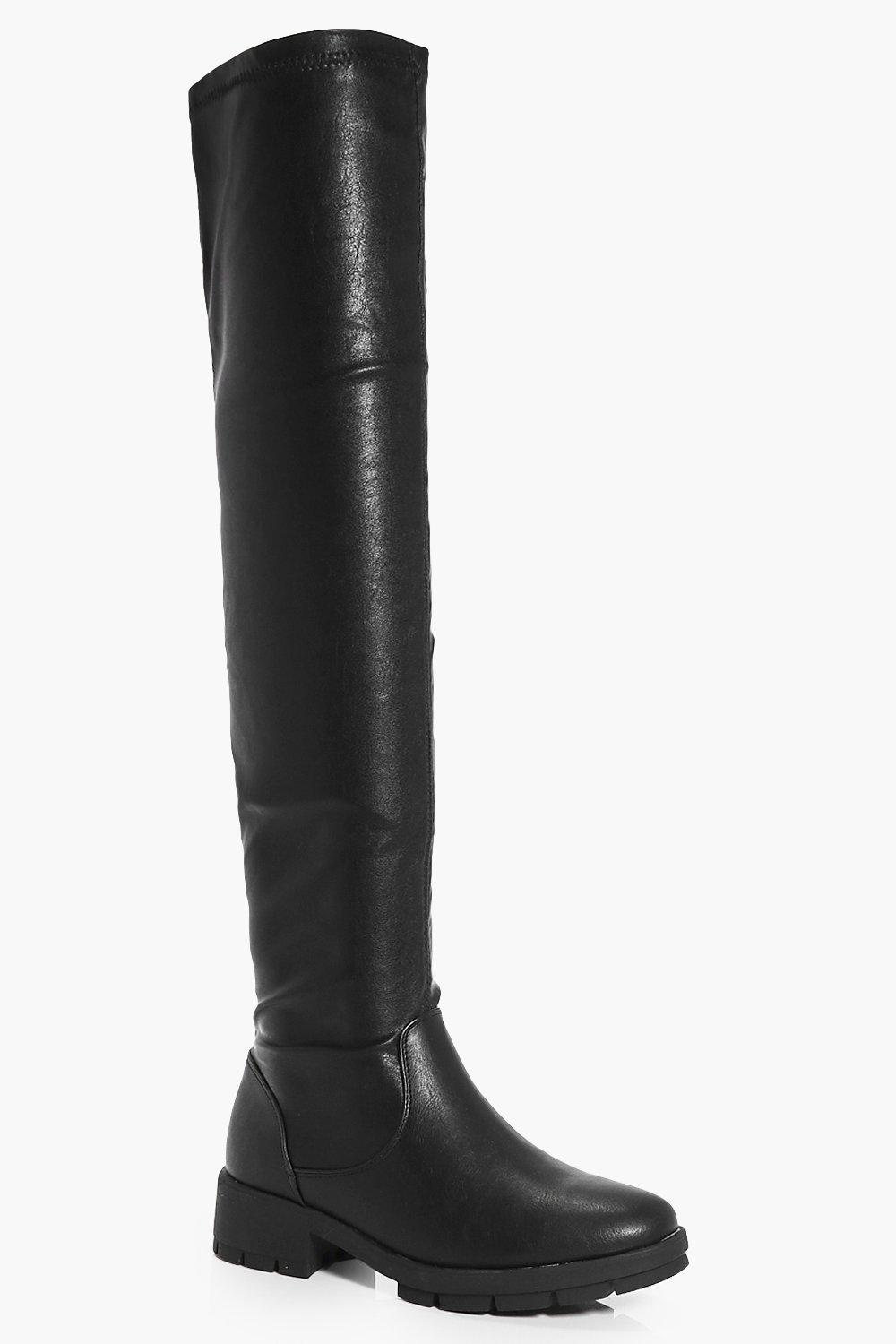 Jemima Knee High Cleated Boot