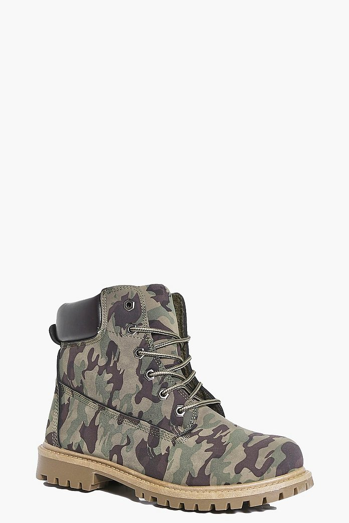 Orla Camo Shearling Lined Hiker Boot