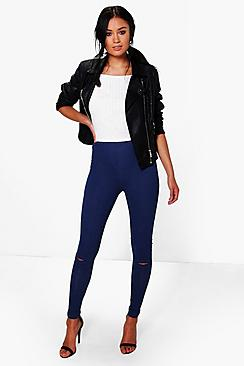 Adaira Split Knee Pocket Basic Jeggings
