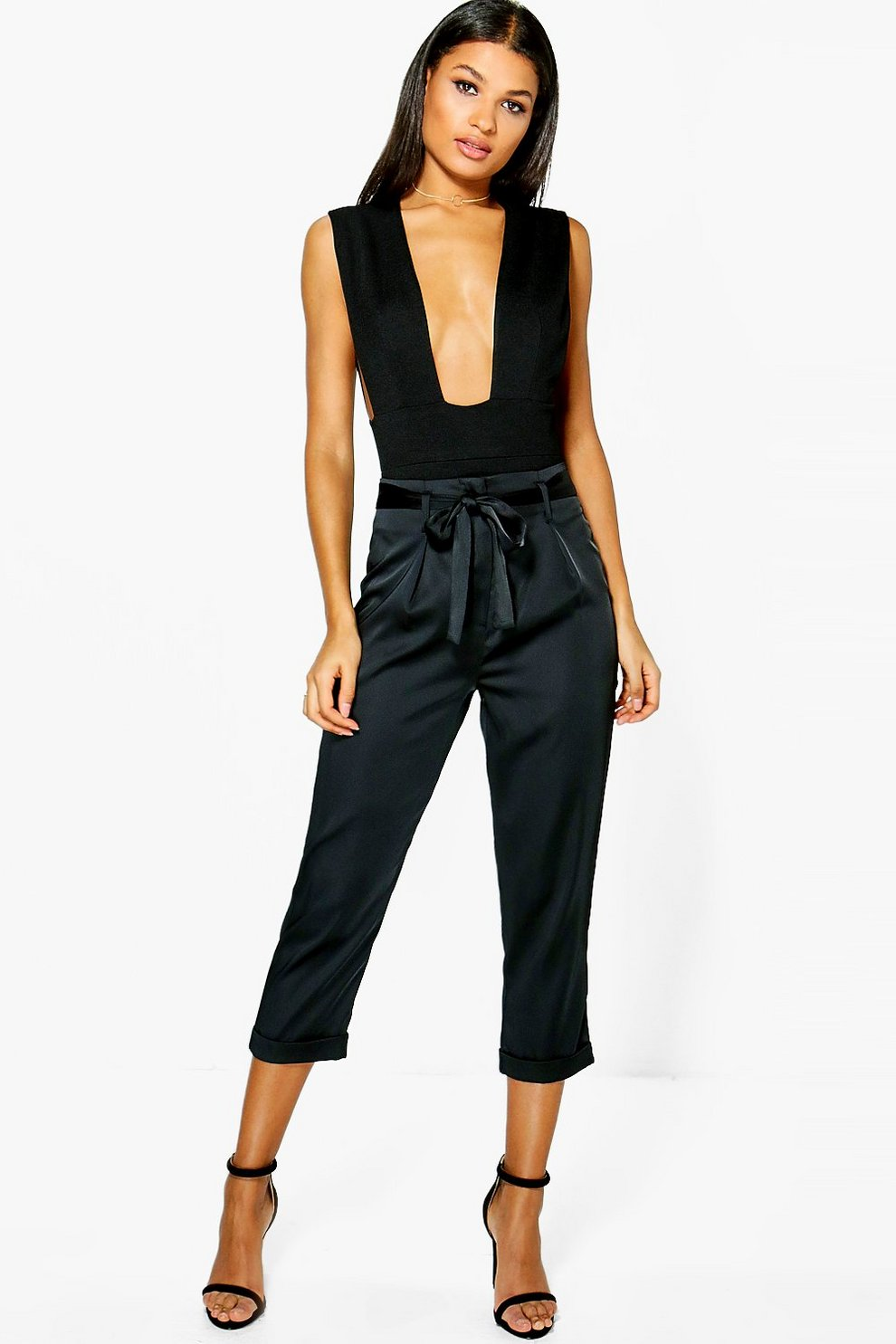 Clearance With Credit Card Cheap Sale Visa Payment cropped trousers - Black The Great. Countdown Package Buy Cheap Latest Free Shipping Perfect SbhwoqoT