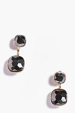 Sophie Double Crystal Earrings