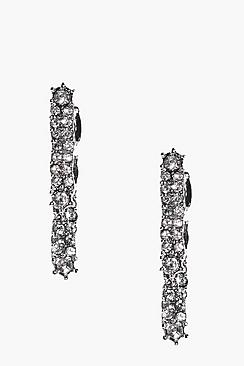 Lily Diamante Bar Earrings