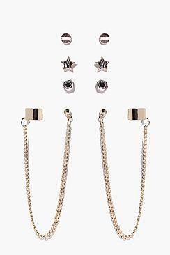 Harriet Multi Stud & Dangle Earring Set