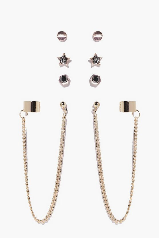 Harriet Multi Stud & Dangle 4 Earring Set