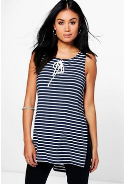 Sarah Striped Longline Tunic