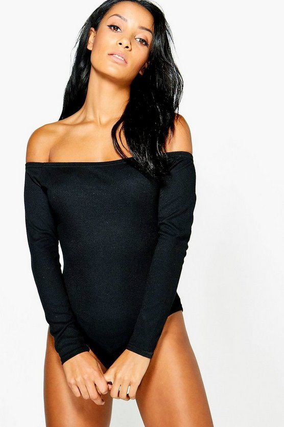 Ruby Rib Off The Shoulder Long Sleeve Body