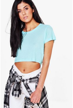 Daphne Ribbed Crop T-Shirt