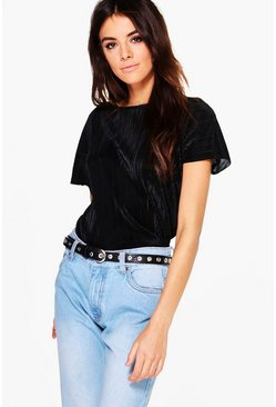 Natalie Pleated T-Shirt