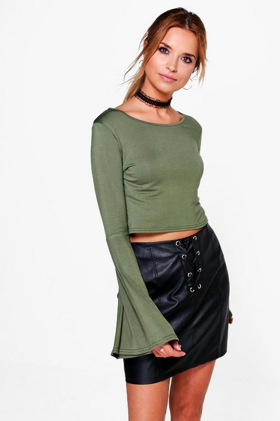 Adelle Flute Sleeve Crop