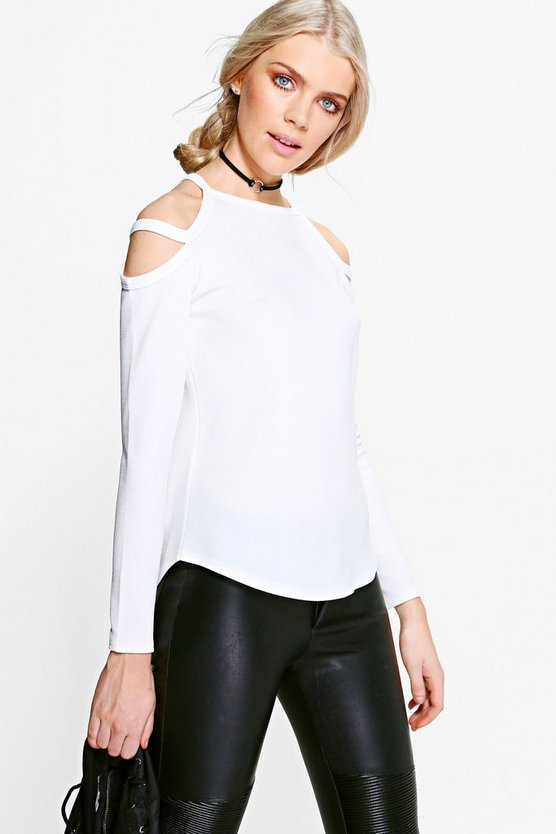 Carolyn Caged Cold Shoulder Top