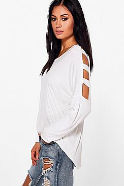 Katy Cut Out Cold Shoulder Top