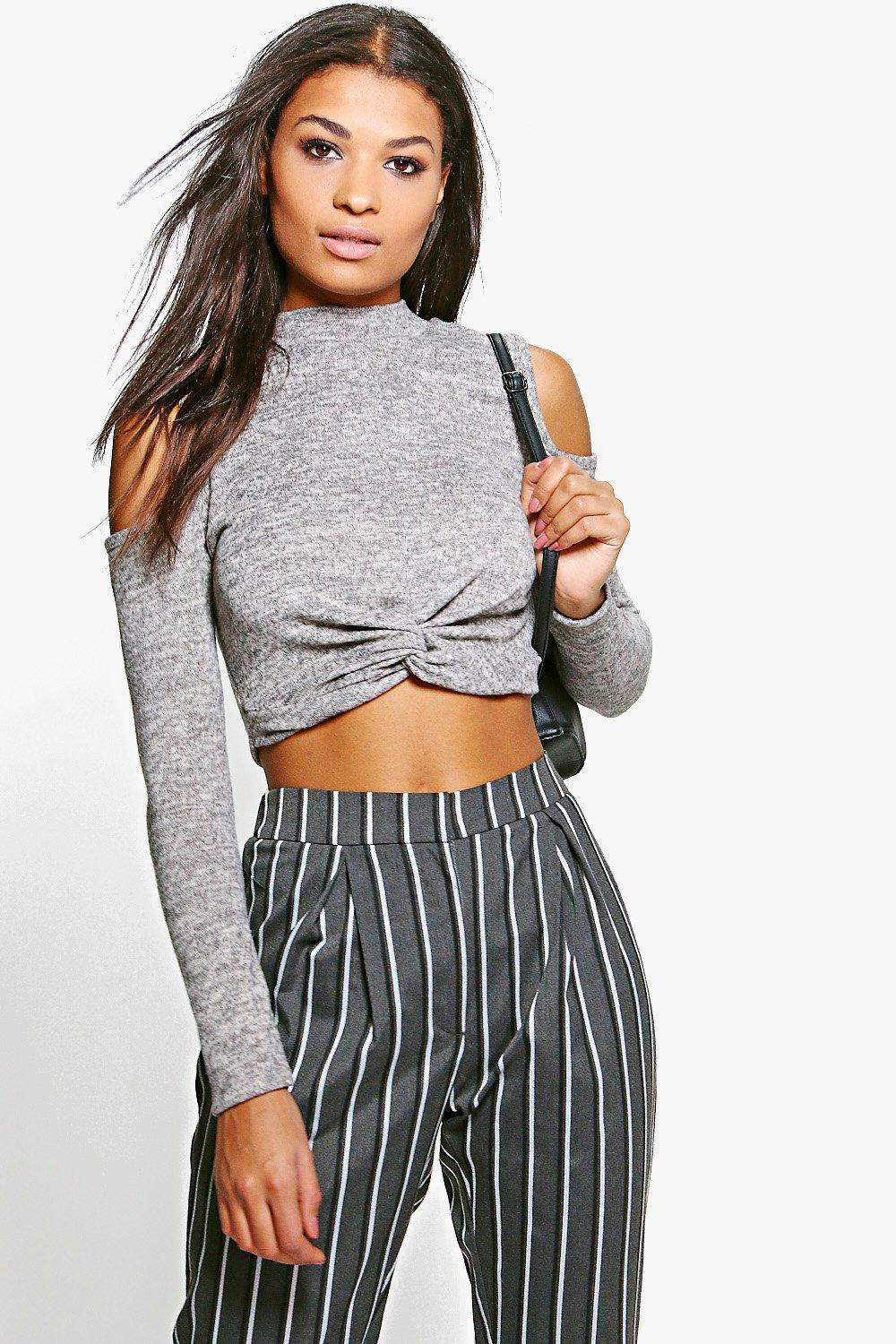 Esme Twist Front Cold Shoulder Top