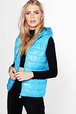 Molly Hooded Sleeveless Padded Gilet