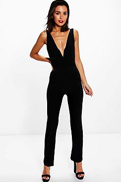 Ellie Plunge V Neck Jumpsuit