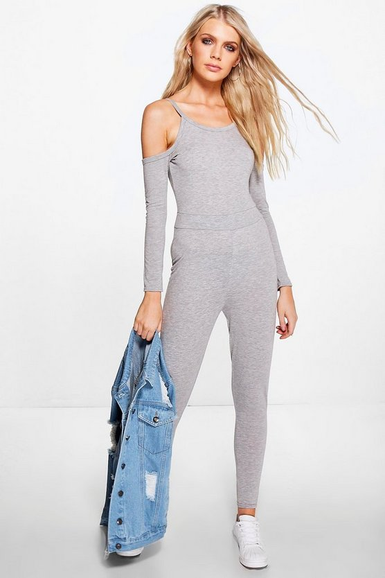 Asia Cold Shoulder Jersey Jumpsuit