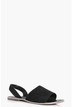 Layla Suede Two Part Peeptoe Sandal