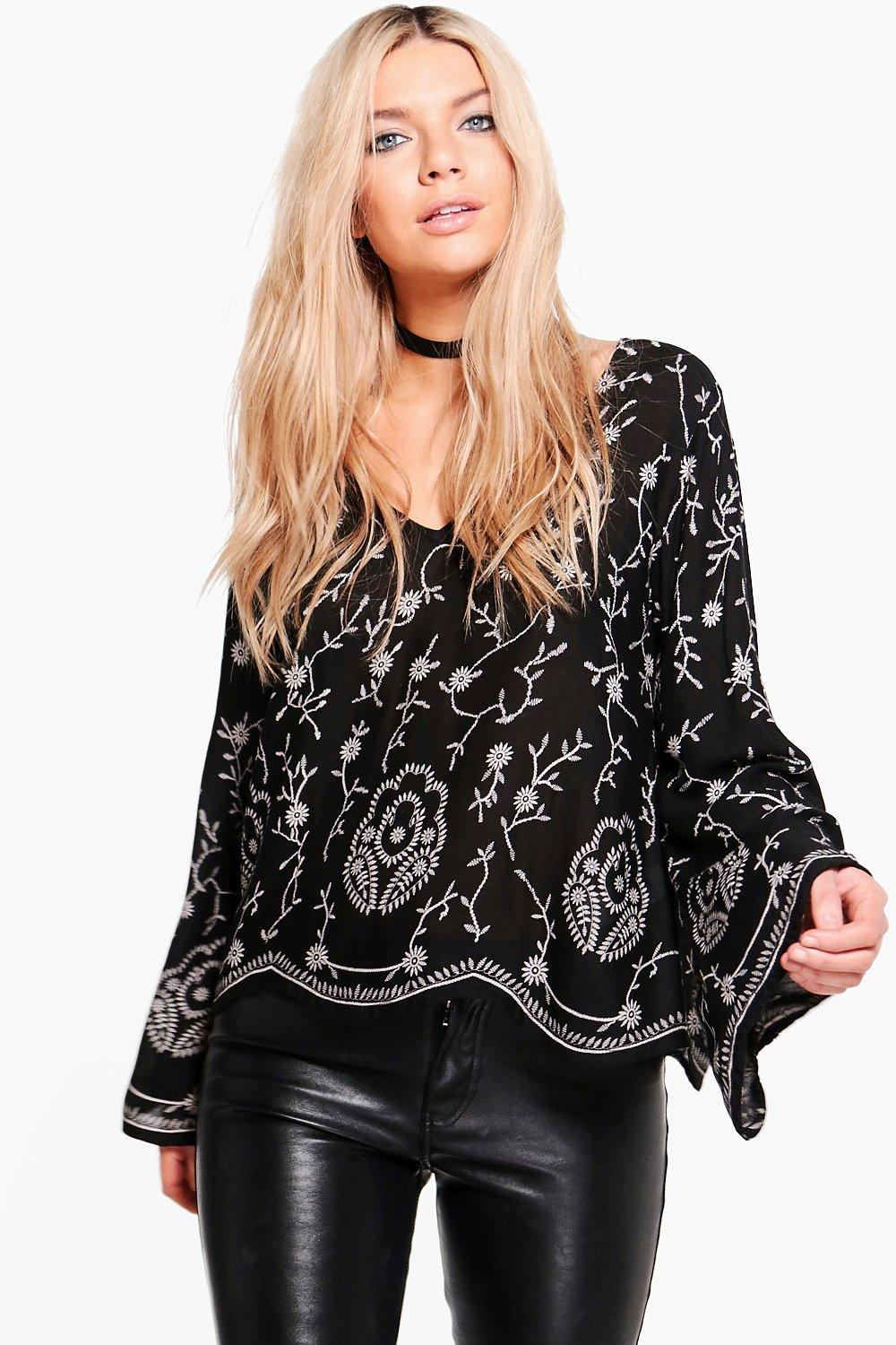 Natalie All Over Printed Plunge Top