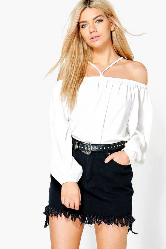 Indie Woven Strappy Neck Top