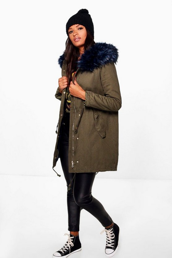 Elizabeth Faux Fur Long Parka