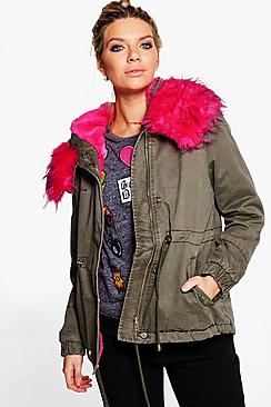 Milly Faux Fur Parka