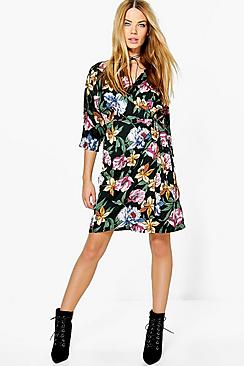 Ailsa Wrap Around Floral Dress