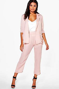 Saskia Satin Crop Trouser
