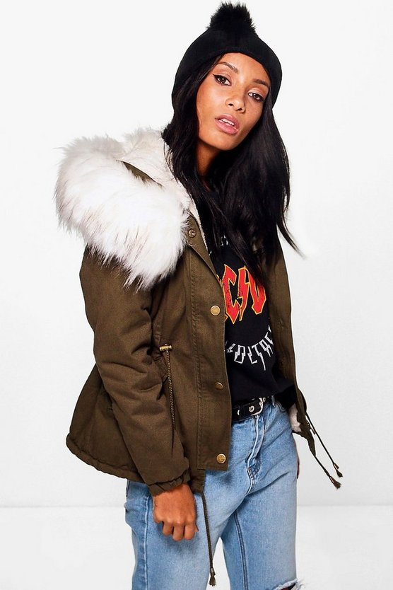 Paige Faux Fur Long Parka