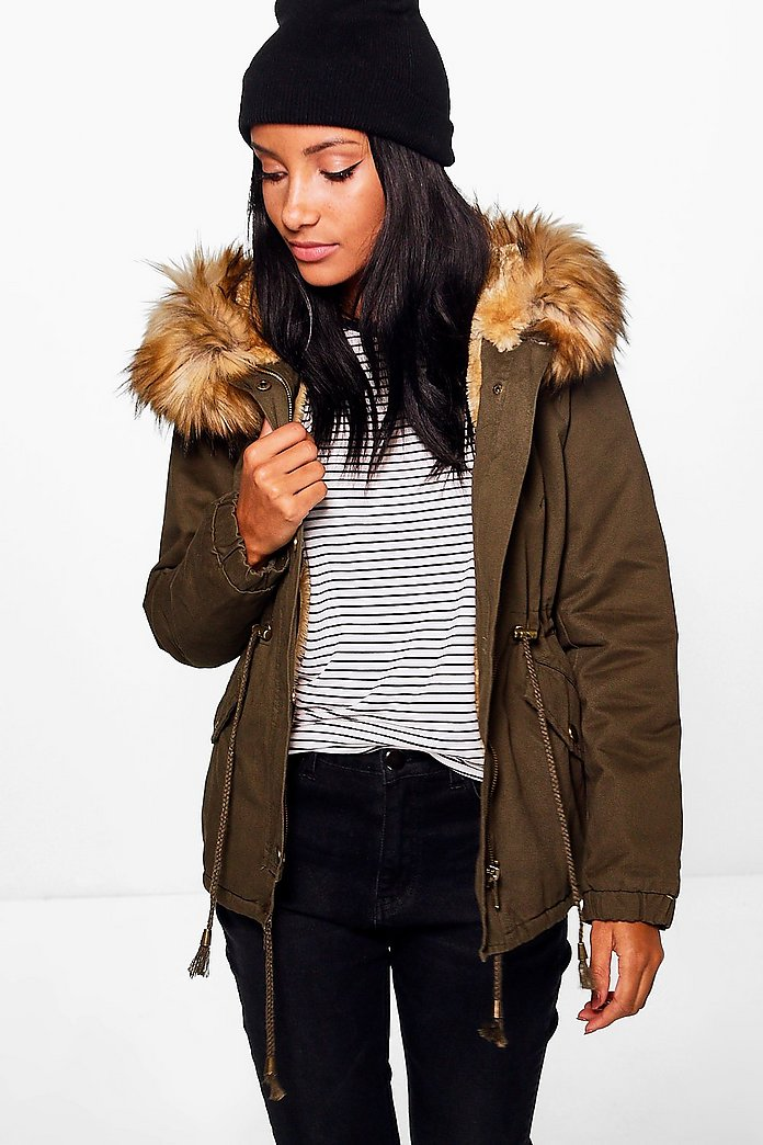 Grace Faux Fur Parka