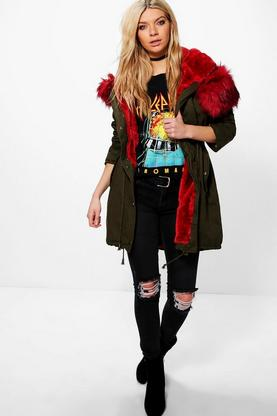 Maddison Faux Fur Long Parka
