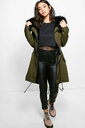 Eleanor Faux Fur Parka