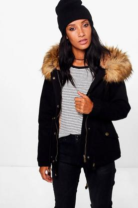 Katie Faux Fur Long Parka