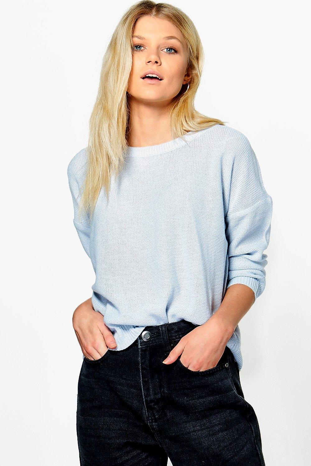 Alice Boxy Scoop Neck Jumper