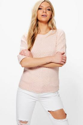 Florence Crew Neck Ribbed Jumper