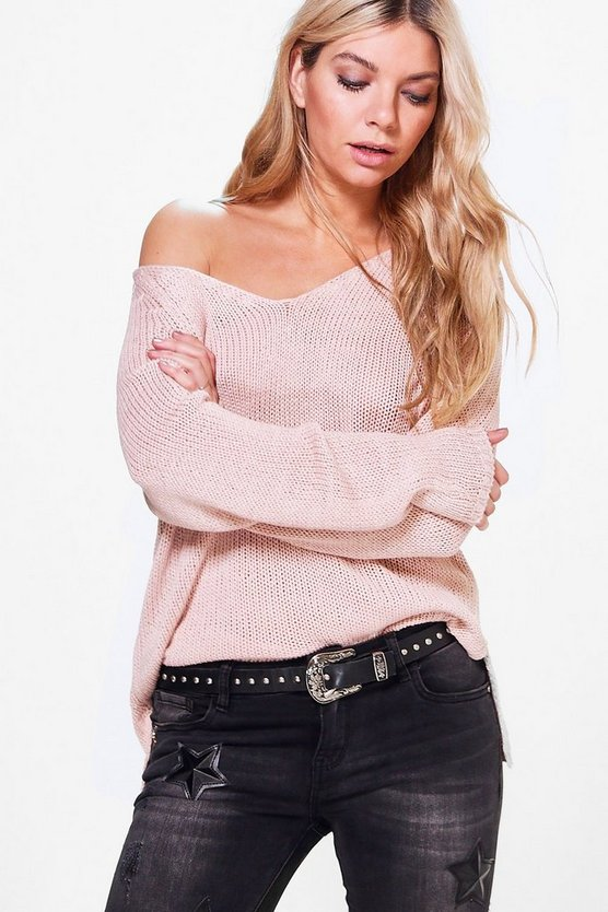 Lacey V-Neck Loose Fit Summer Jumper