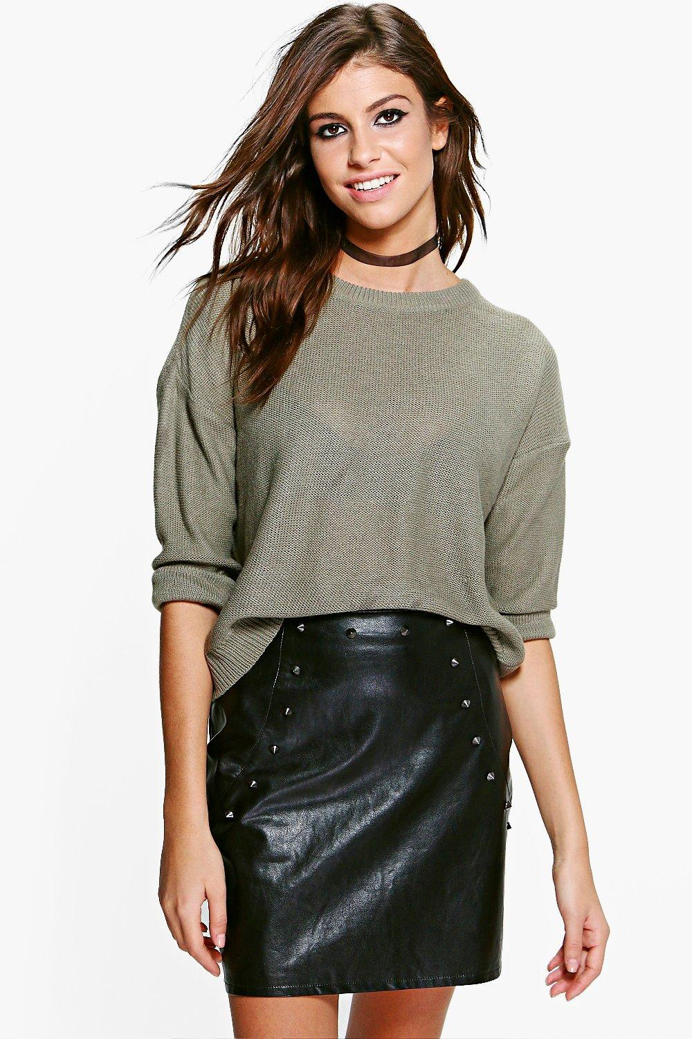 Evelyn Boxy Scoop Neck Jumper