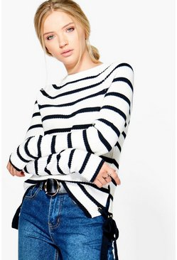 Rosie Nautical Stripe Fisherman Jumper
